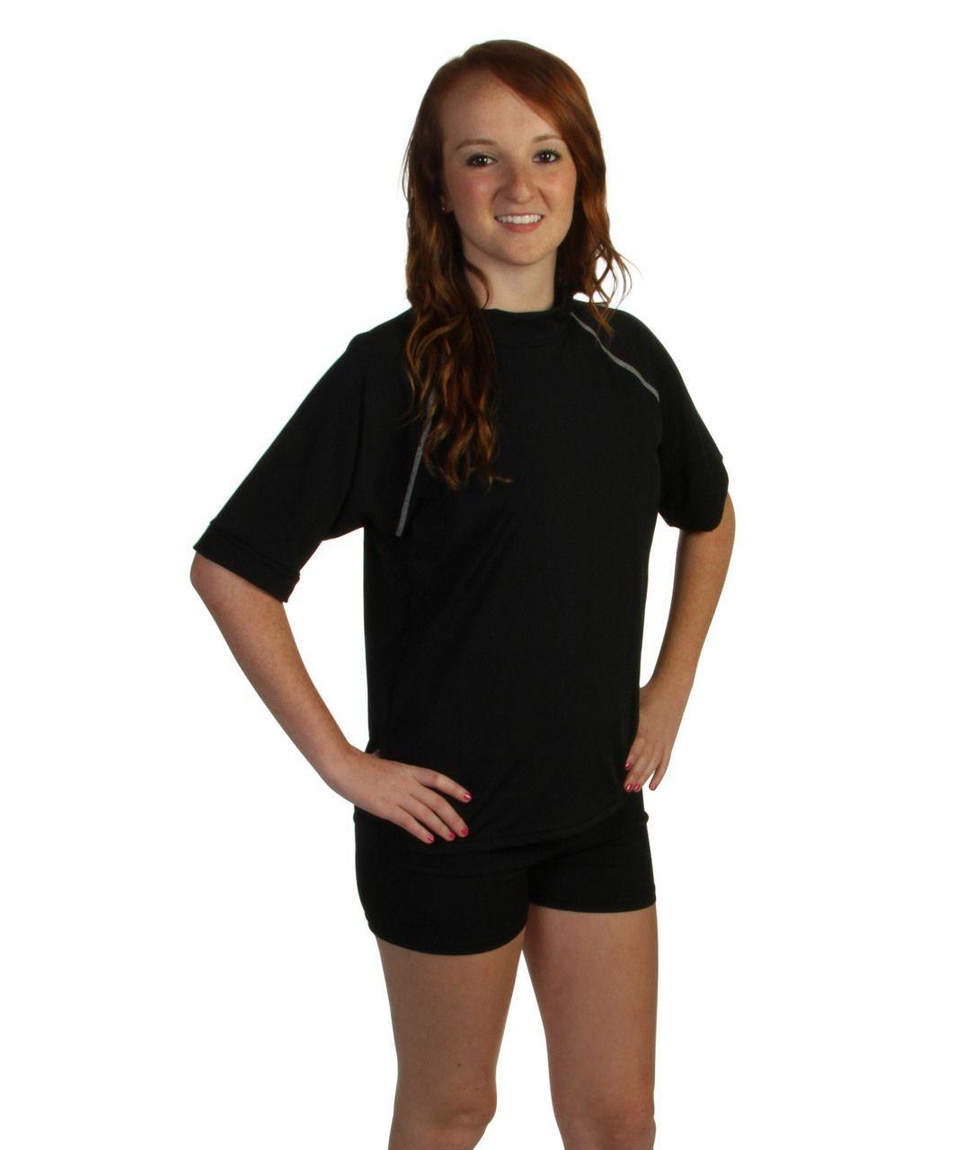 20e64a6e90 Set: Black Sun Protection Rashguard Swim Shirt & Shorts- Size M only ...