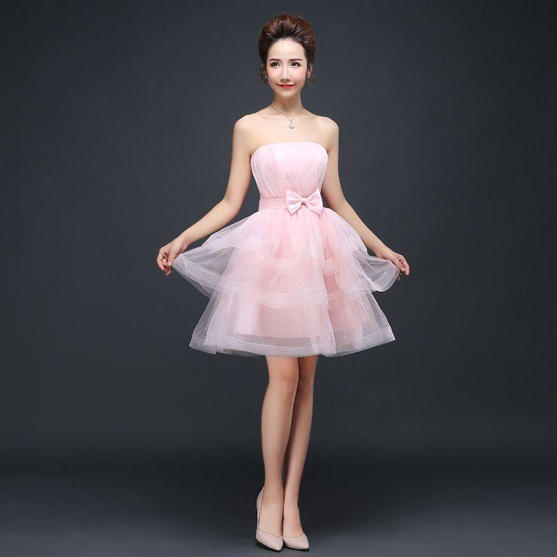 63511e68b Fashion sweet verano ropa adolescentes vestido para la fiesta de boda rojo  champagne vestidos de color