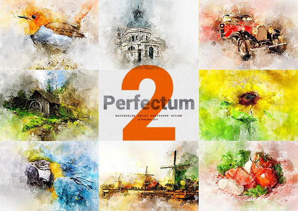 Watercolor Artist Perfectum 2 Photoshop Action Photoshop