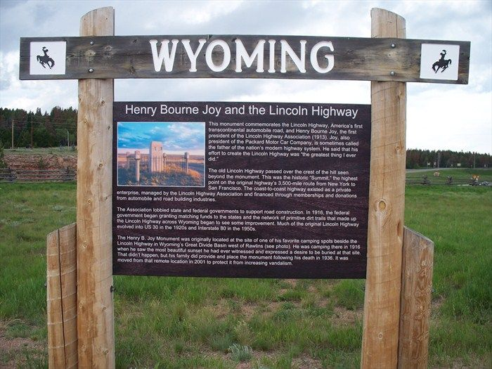 Henry Bourne Joy And The Lincoln Highway Image Wyoming Trip