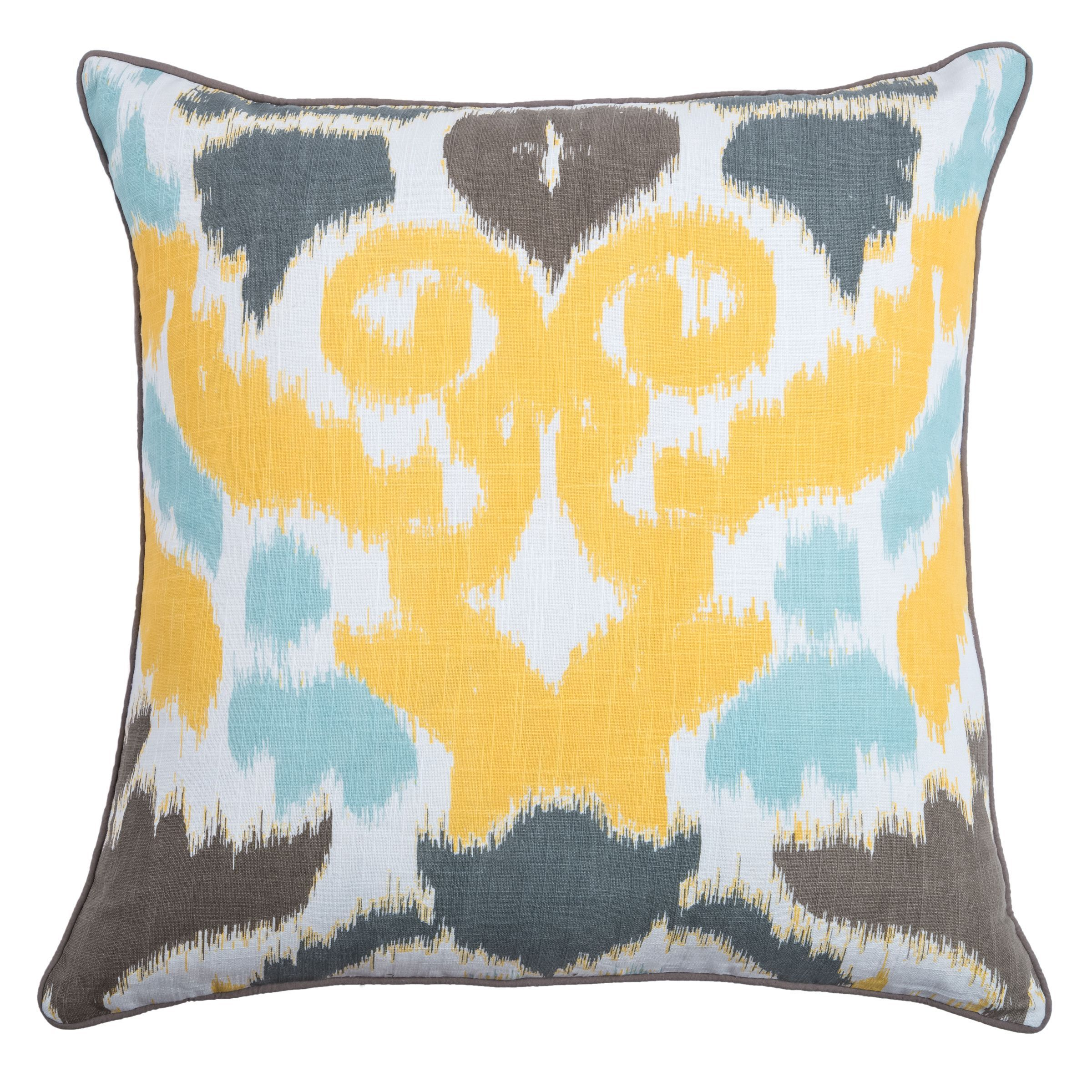 rizzy home laura fair yellow ikat inch decorative throw pillow  - rizzy home laura fair yellow ikat inch decorative throw pillow by rizzyhome
