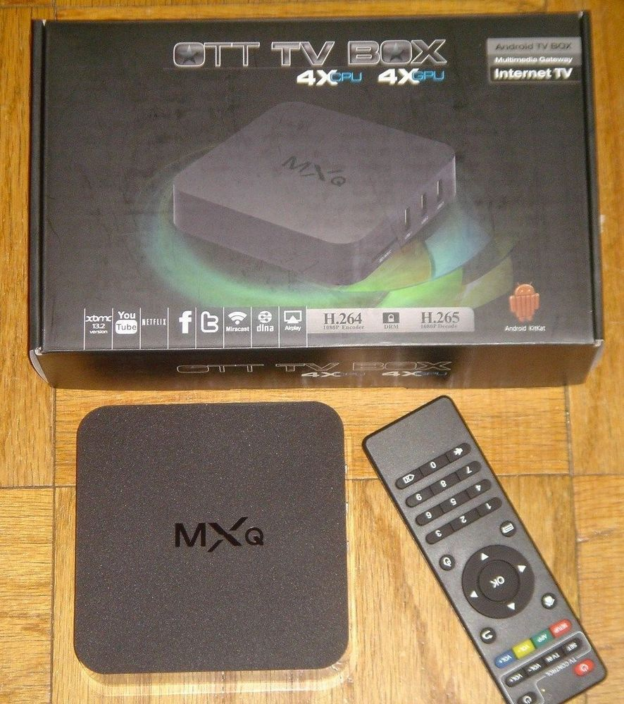 XBMC Kodi Helix Android S805 Quad Core MXQ OTT TV Box Fully