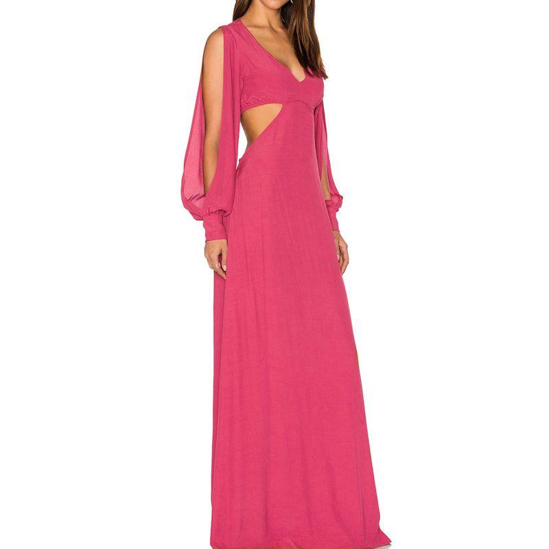 vestido #fiesta #matrimonio #escote #largo #confeccion a medida ...