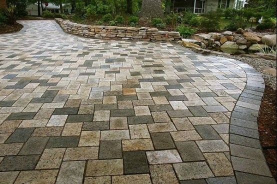 Paisaje Adoquines Piedras Paver Patio Recycled Granite Patio Landscaping