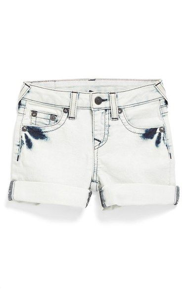 e7b7c8210 True Religion Brand Jeans 'Adurey' Roll Cuff Shorts (Toddler Girls & Little  Girls) available at #Nordstrom