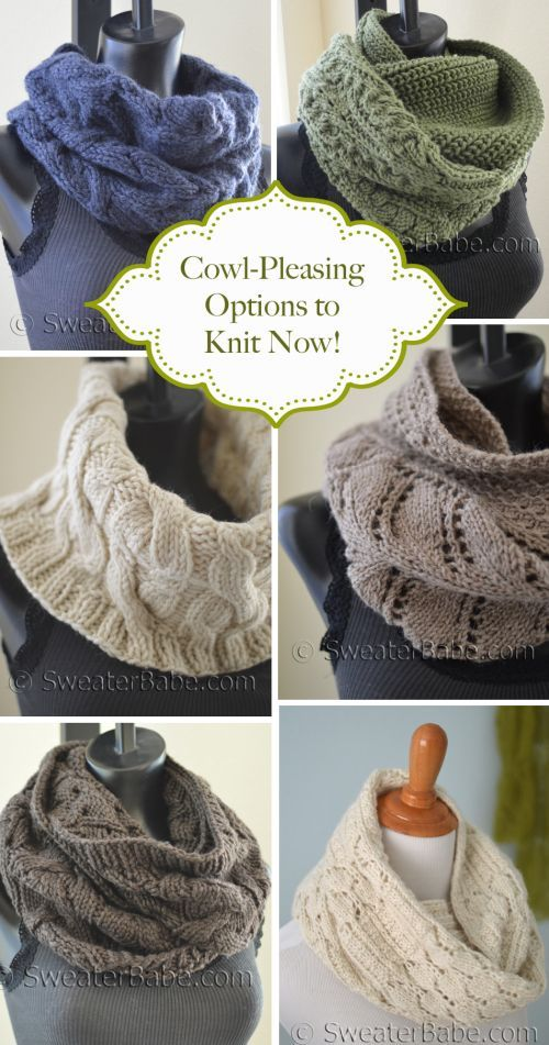 Cowl-Pleasing Options to Knit Now! | Tejido, Invierno y Puntos