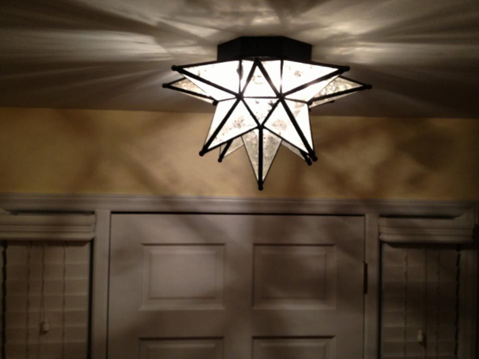Moroccan Star Flush Mount Ceiling Light Fixture Light