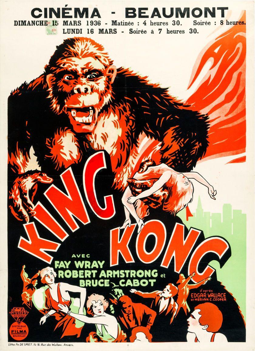 King Kong Rko 1936 Pre War Belgian 24 X 33 King Kong 1933 King Kong Movie Posters Vintage