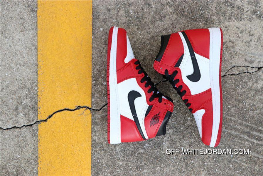 17476e50b3e Air Jordan 1 Aj1 AJ1 Retro Chicago 575441-101 Womens Basketball Shoes White  Black-Varsity Red New Style