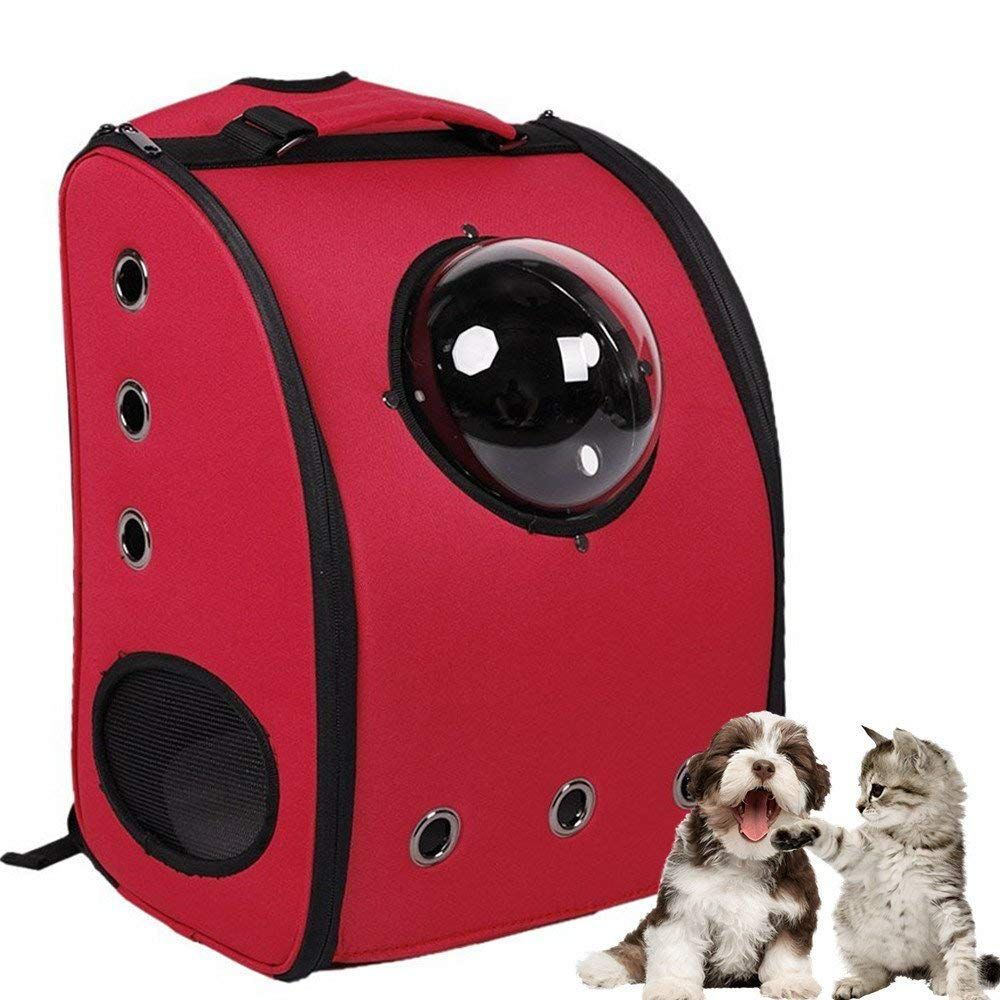 58ed798ebff Aoxsen Dog Cat Puppy Pet Carrier Bag Innovative Traveler Bubble Pet Backpack  Double Shoulder Bag Airline Travel Approved Space Pet Carriers Rabbit Cage  ...