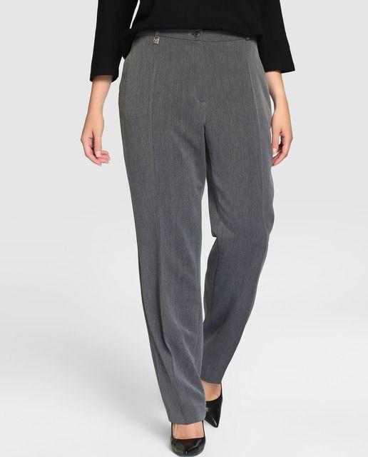Pantalón básico recto de mujer talla grande Talla y Moda