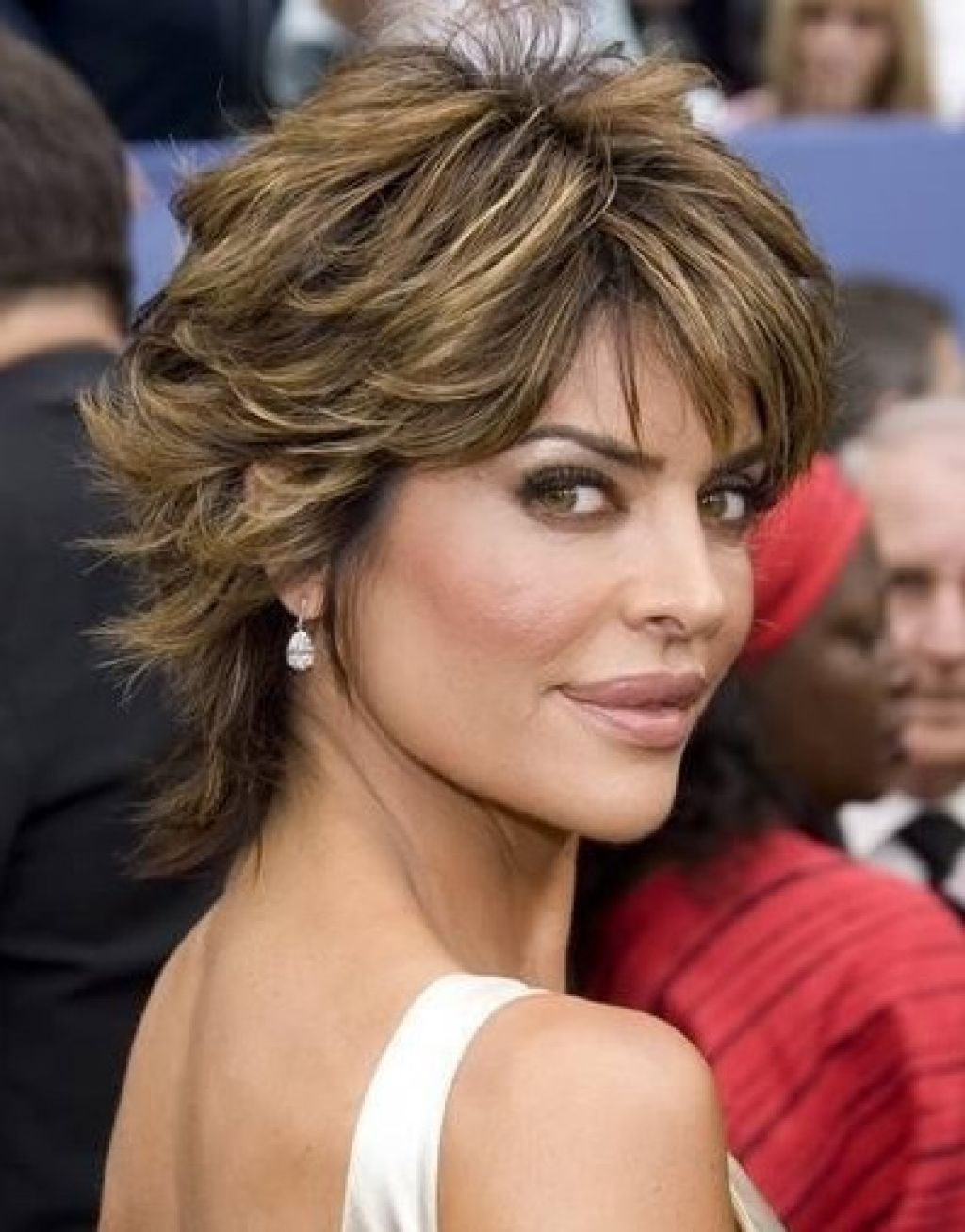 Lisa Rinna Short Shag Hairstyles Haircuts Pinterest Hair
