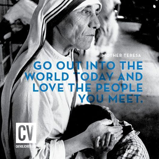 Blessed Mother Teresa Quote #love #serve // CatholicVote