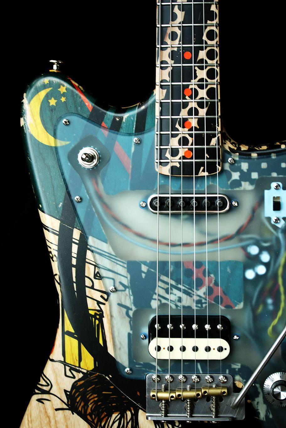 Deimel Firestar Artist Edition Berlin Tonight Art By Kora Junger Guitar Cool Guitar Luthier Guitar