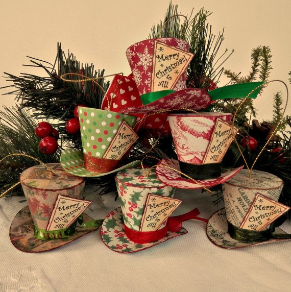 Alice in Wonderland Christmas Ornament Top by WillOtheWispWedding, $45.00/set of 6