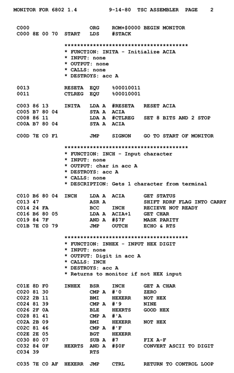 Motorola_6800_Assembly_Language | 0's & 1's | Assembly