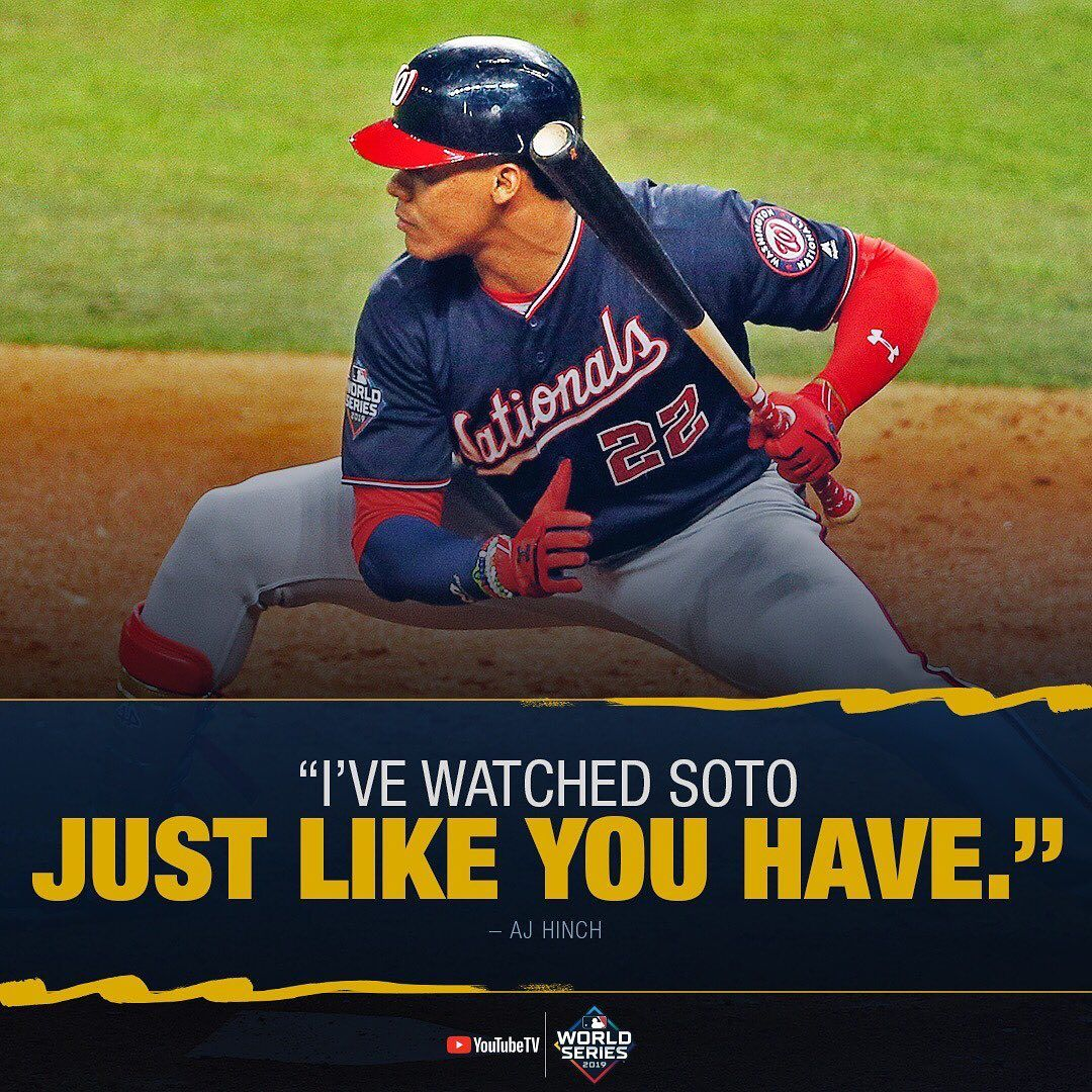 Mlb The Astros Didn T Intentionally Walk A Batter All Year Until Juan Soto Came Baseball Big4 Bigf Washington Nationals Baseball Soto Astros