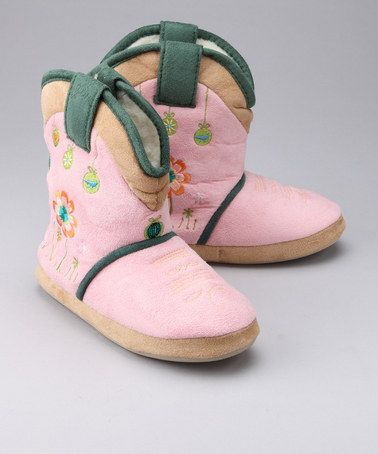 Take a look at this Sweet Petal Cowgirl Slipper by Cicciabella on #zulily today!