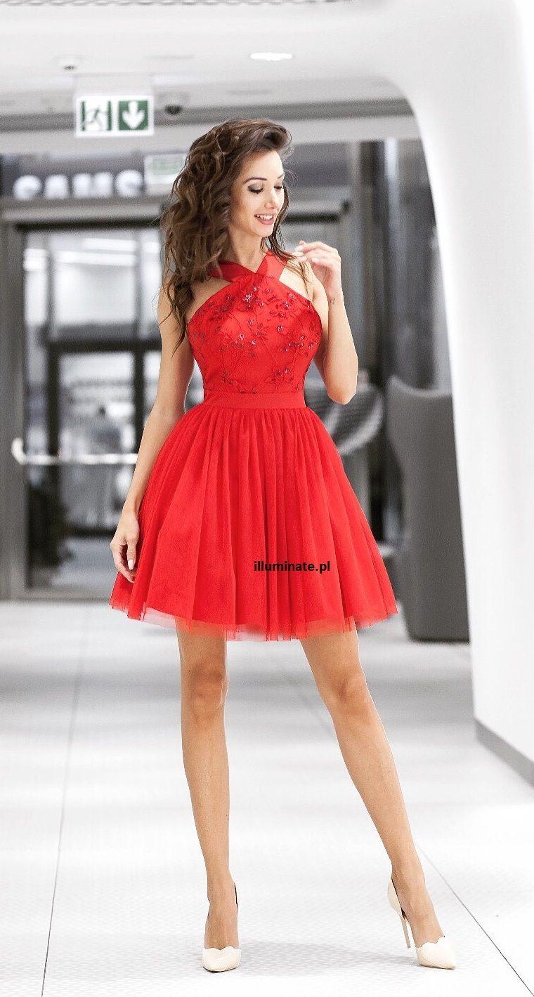 c0f3277287 Czerwona rozkloszowana tiulowa sukienka Paris Red tulle dress Paris  lt 3  - gt  illuminate