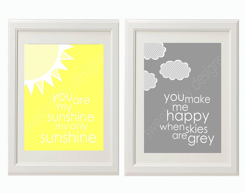 Nursery Print, You are my sunshine PRINTABLE, You are my sunshine ...