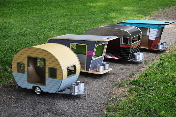Now Your Pooch Can Have His Own Retro Camper Too Cool Dog Houses Camper Dog House Dog House Diy