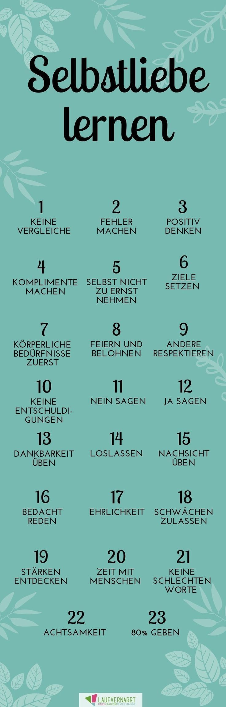 Die Selbstliebe - ein kompletter Guide in 23 Punkten Inspirational Quotes inspirational fitness quot...