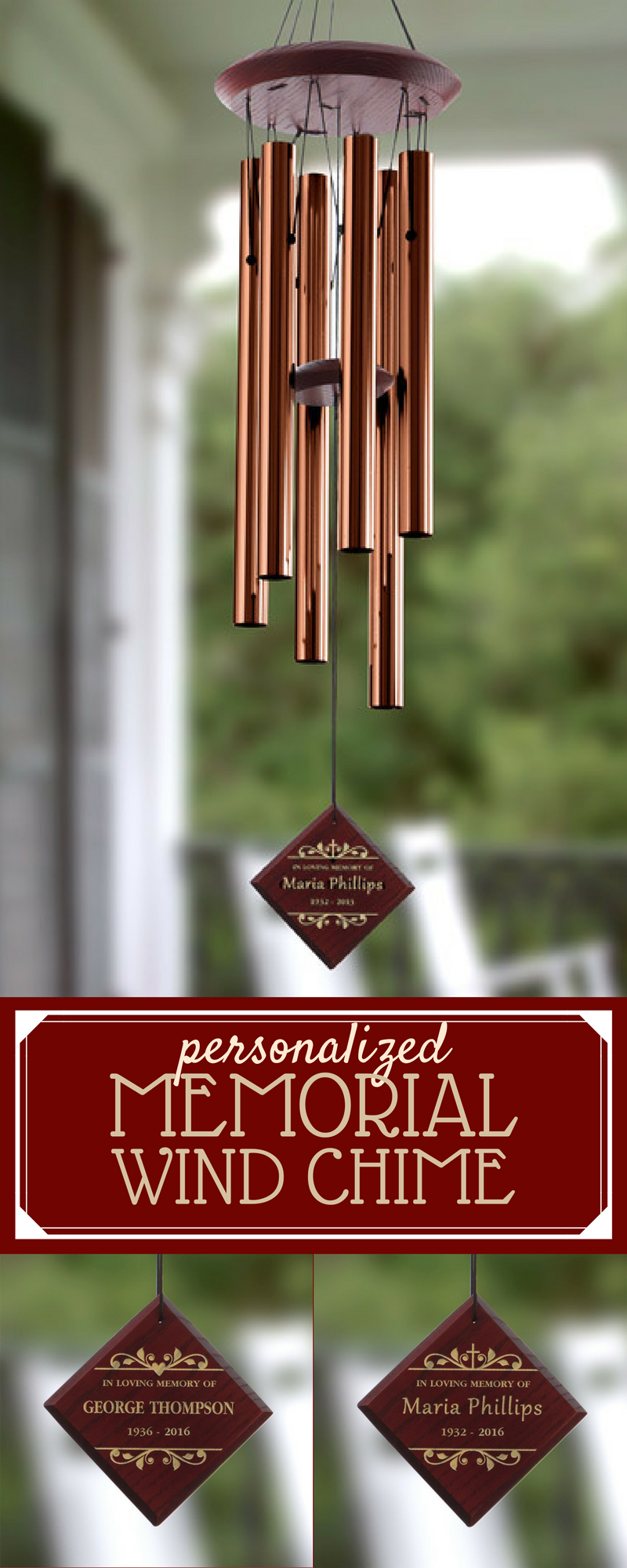Personalized Memorial Wind Chimes | Memorials | Memorial wind chimes