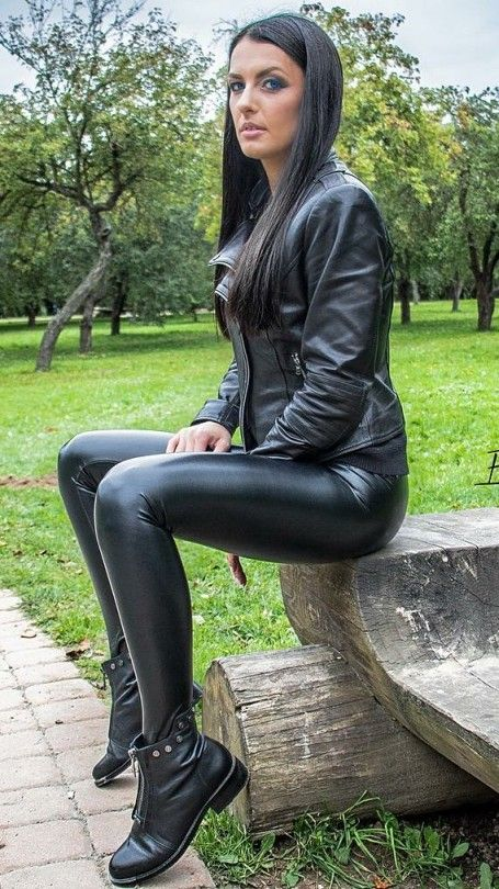 Seductive girls in tight leather pants opinion you