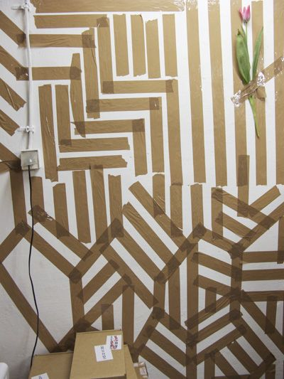 Different colored painters tape on the walls? Making tape ...