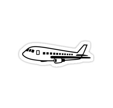 Airplane Sticker By Designzz Black Stickers Bubble Stickers