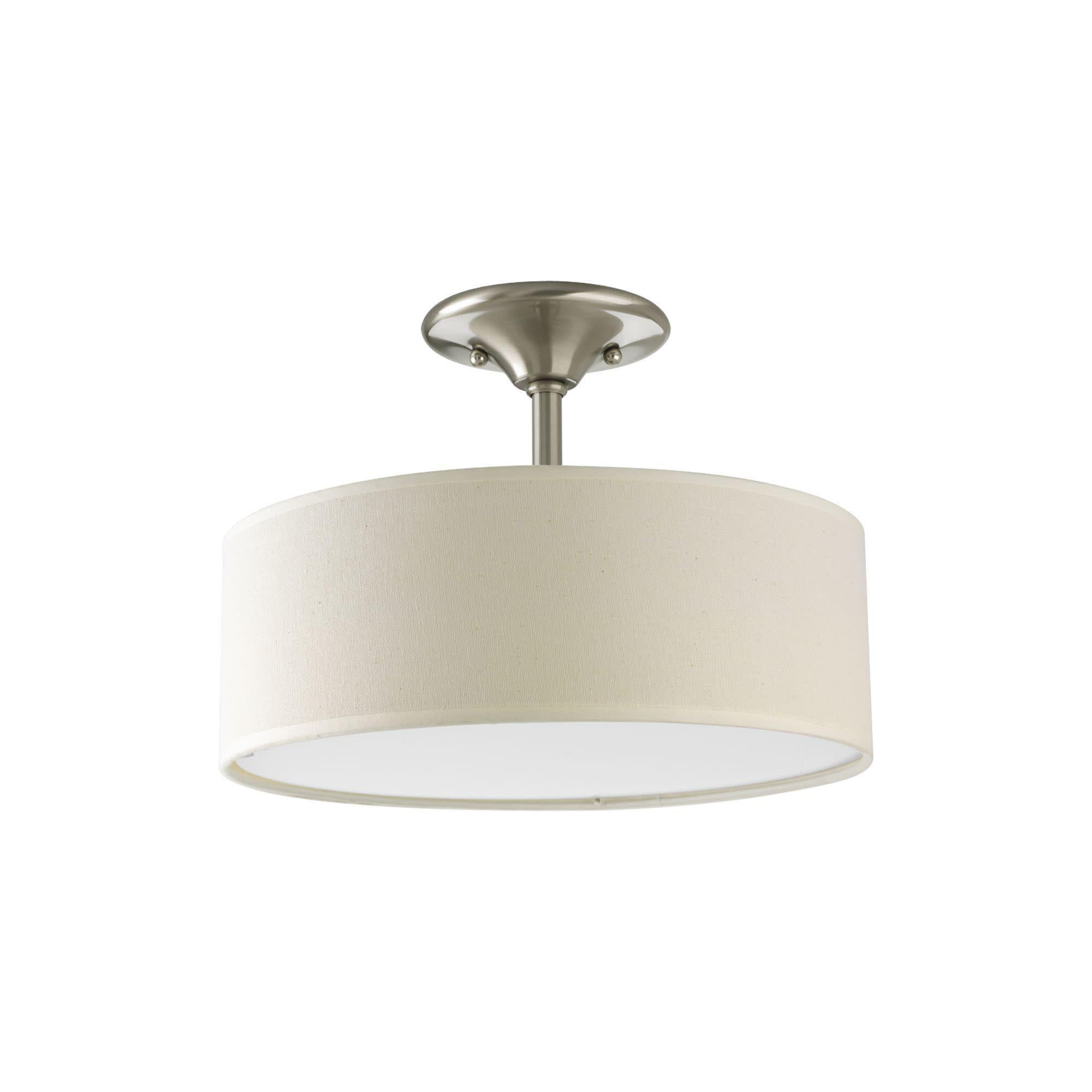 Progress Lighting P3939 Inspire 2 Light Semi Flush Mount Ceiling Fixture With Linen Shade 13 Ceiling Fixtures Flush Mount Ceiling Progress Lighting