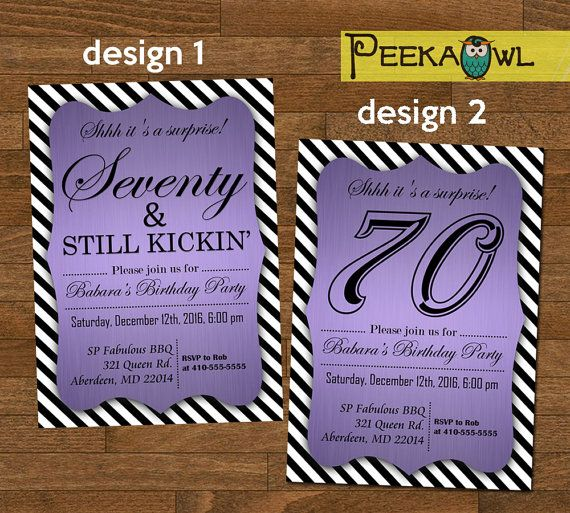 Printable 70th birthday invitation card seventy by peekaowl printable 70th birthday invitation card seventy by peekaowl filmwisefo