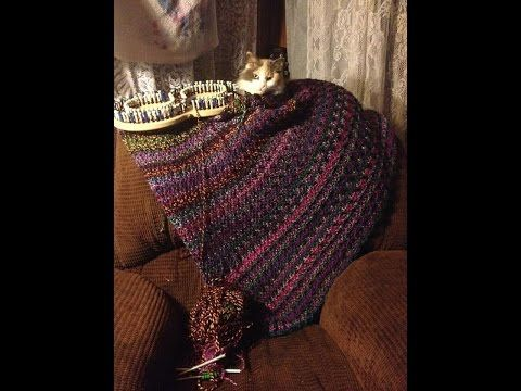Loom Knit Inverted Ribbed Stitch Blanket - Start to Finish - YouTube ...