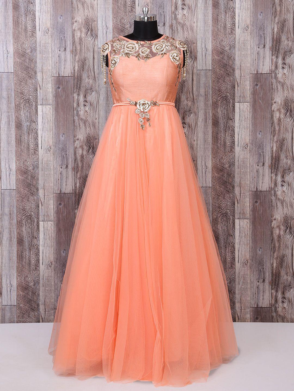 35++ Peach wedding dress indian information
