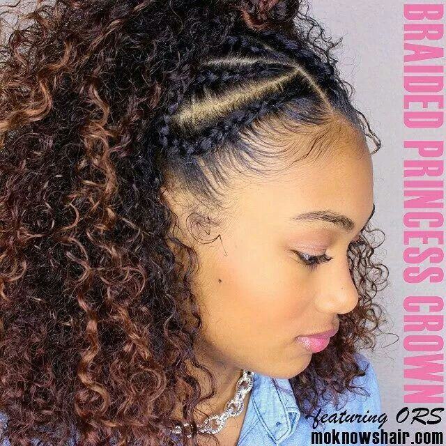 Princess Crown Natural Hair Styles Curly Hair Styles