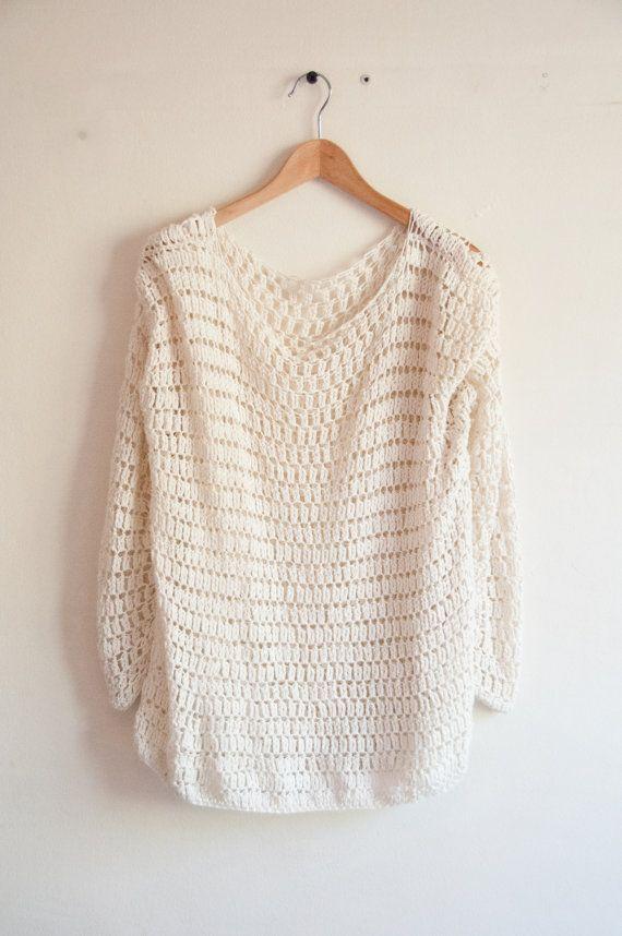 Sweater crochet pattern easy by joyofmotion on Etsy | Wearable ...