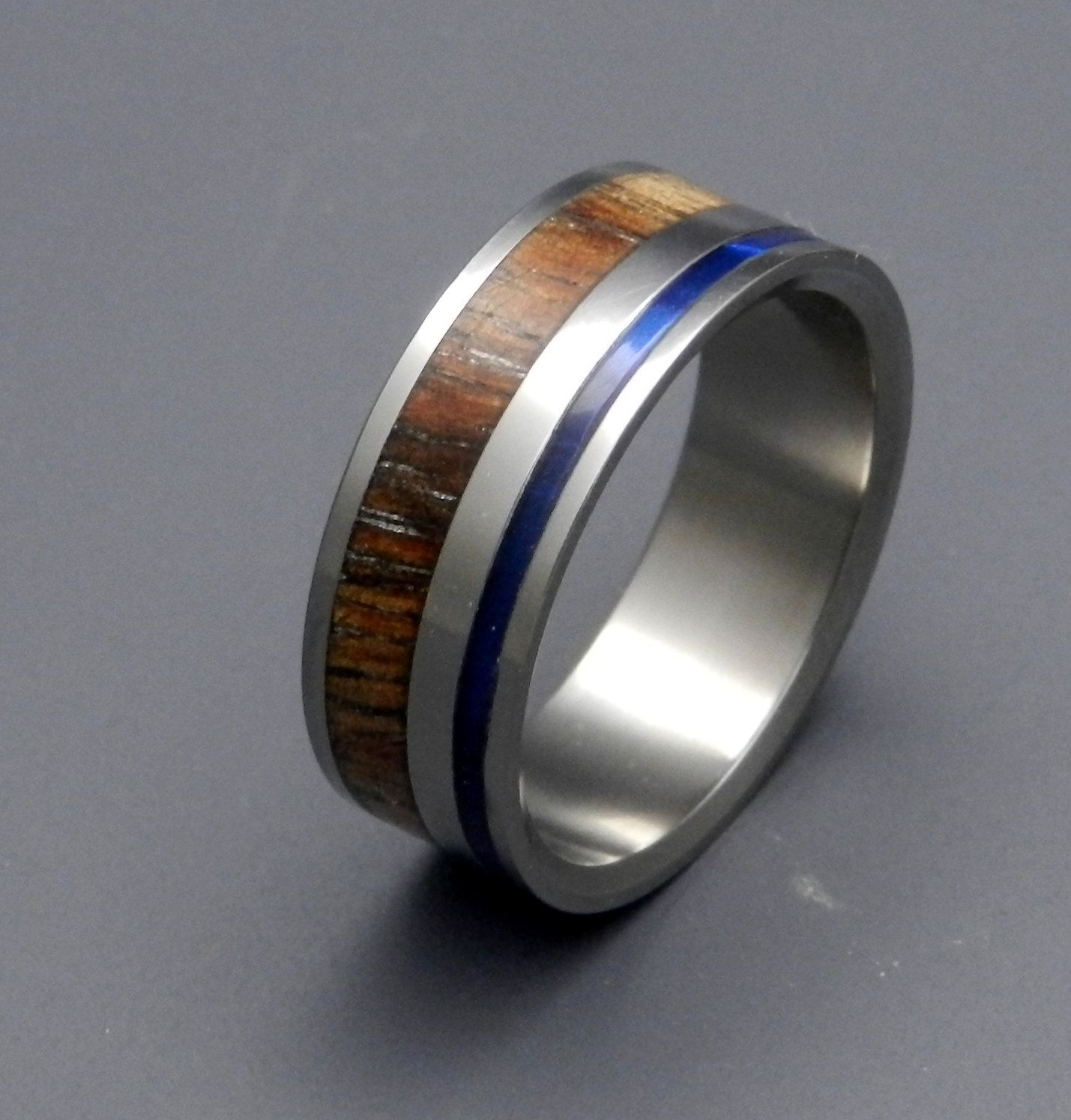 Starry Cove Wooden Wedding Rings 260 00 Via Etsy