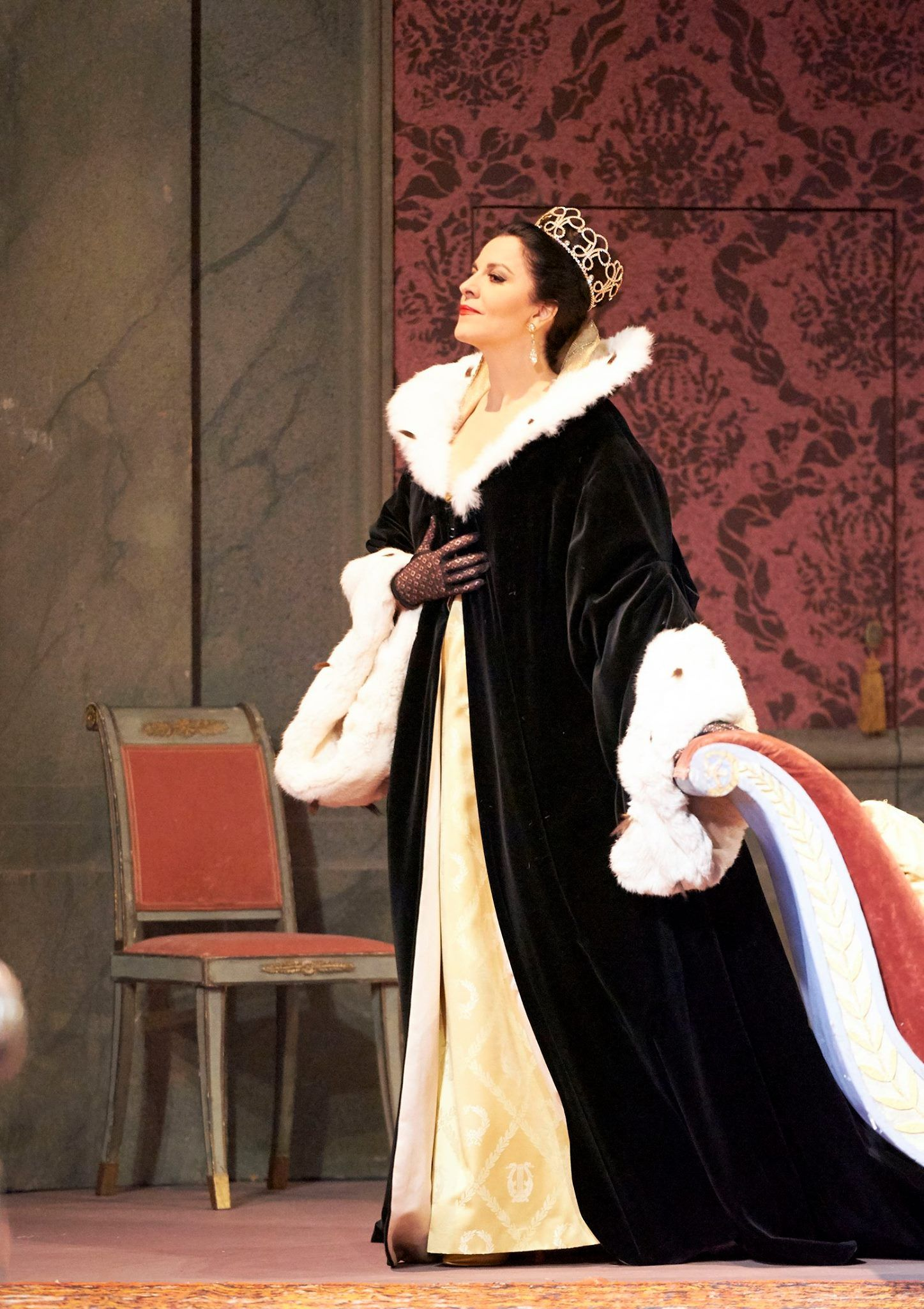 Angela Gheorghiu as Floria Tosca from Puccini's opera 'Tosca' at the Wiener Staatsoper