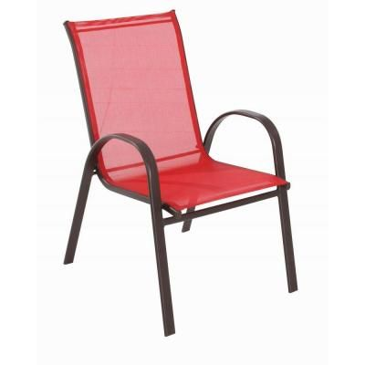Red Sling Patio Chair Fcs00015j Red At The Home Depot Outdoor