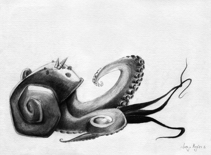 Resultado de imagen para pulpo dibujo a lapiz | dibujos | Pinterest ...