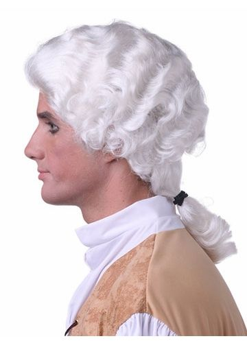 Son's of Liberty Style Medium Length Curly Men's Wig