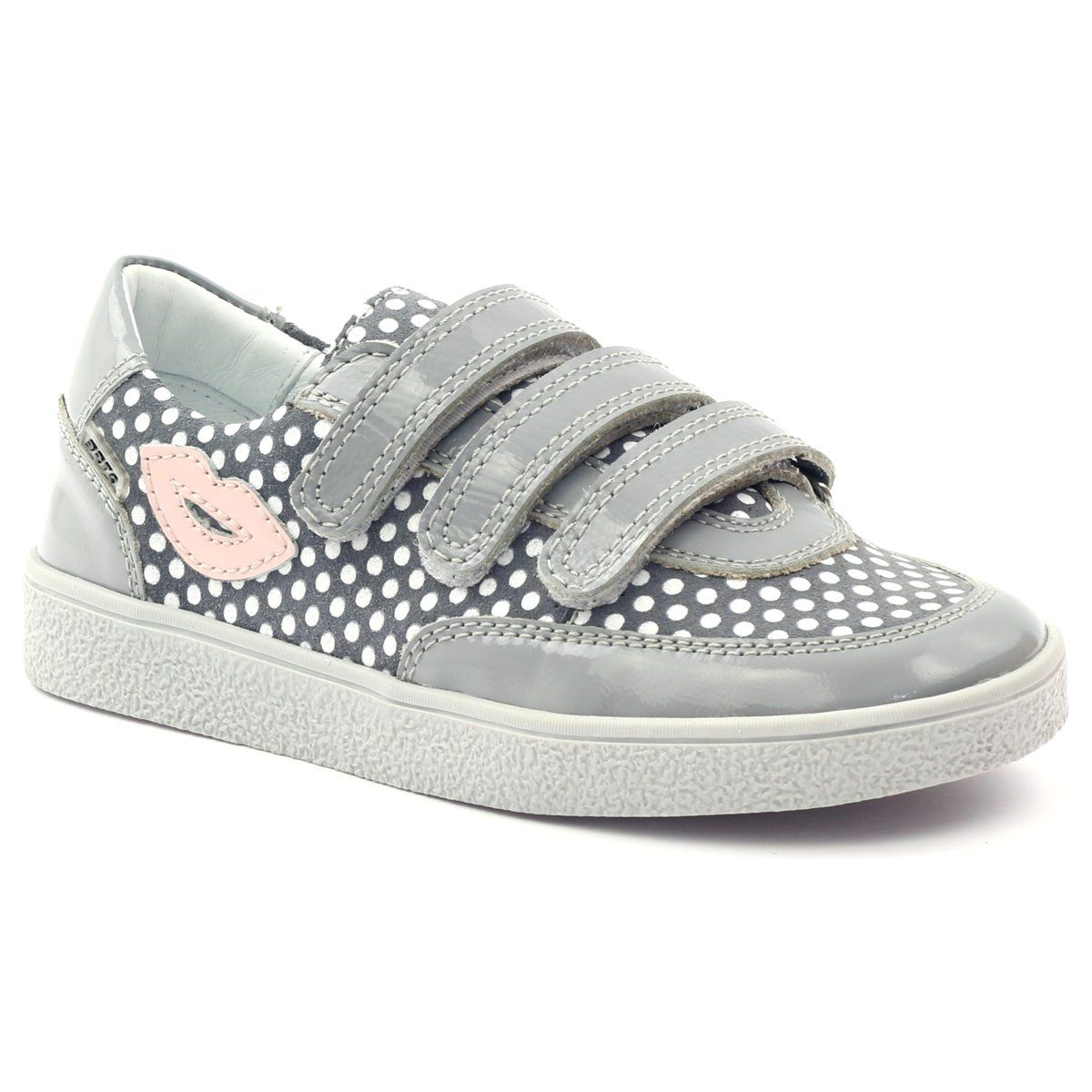 Bartek Buty Na Rzepy Szare W Kropki 35651 Rozowe Biale Kid Shoes Childrens Shoes Girls Shoes