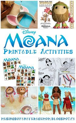 Free Printable Moana Activities And Party Games