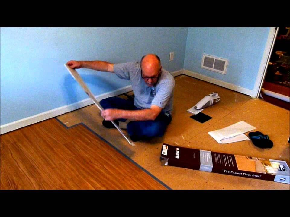 Installing Allure Trafficmaster Resilient Vinyl Flooring Vinyl Flooring Vinyl Flooring Installation Vinyl Flooring Basement