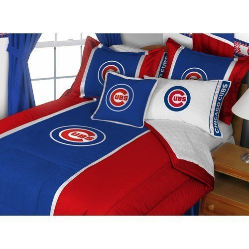 MLB Chicago Cubs - 5pc BOYS BED IN A BAG - Queen Baseball Bedding Set by store51. $169.99. One queen... - #baseball #Bedding #chicago #queen #store51 - #mattressstores