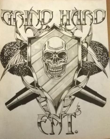 grind hard ent logo design
