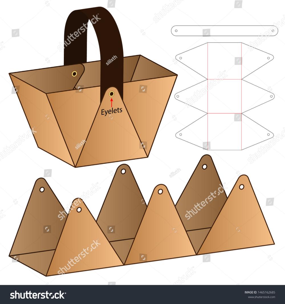 Photo of Cardboard packaging die cut template design stock vector (royalty free) 1465162685 – DIY paper blog