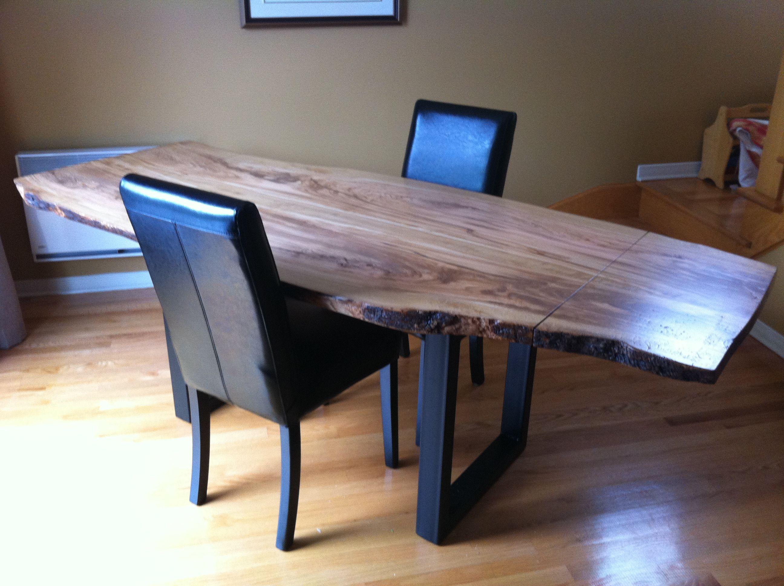 table en bois d olivier massif patte