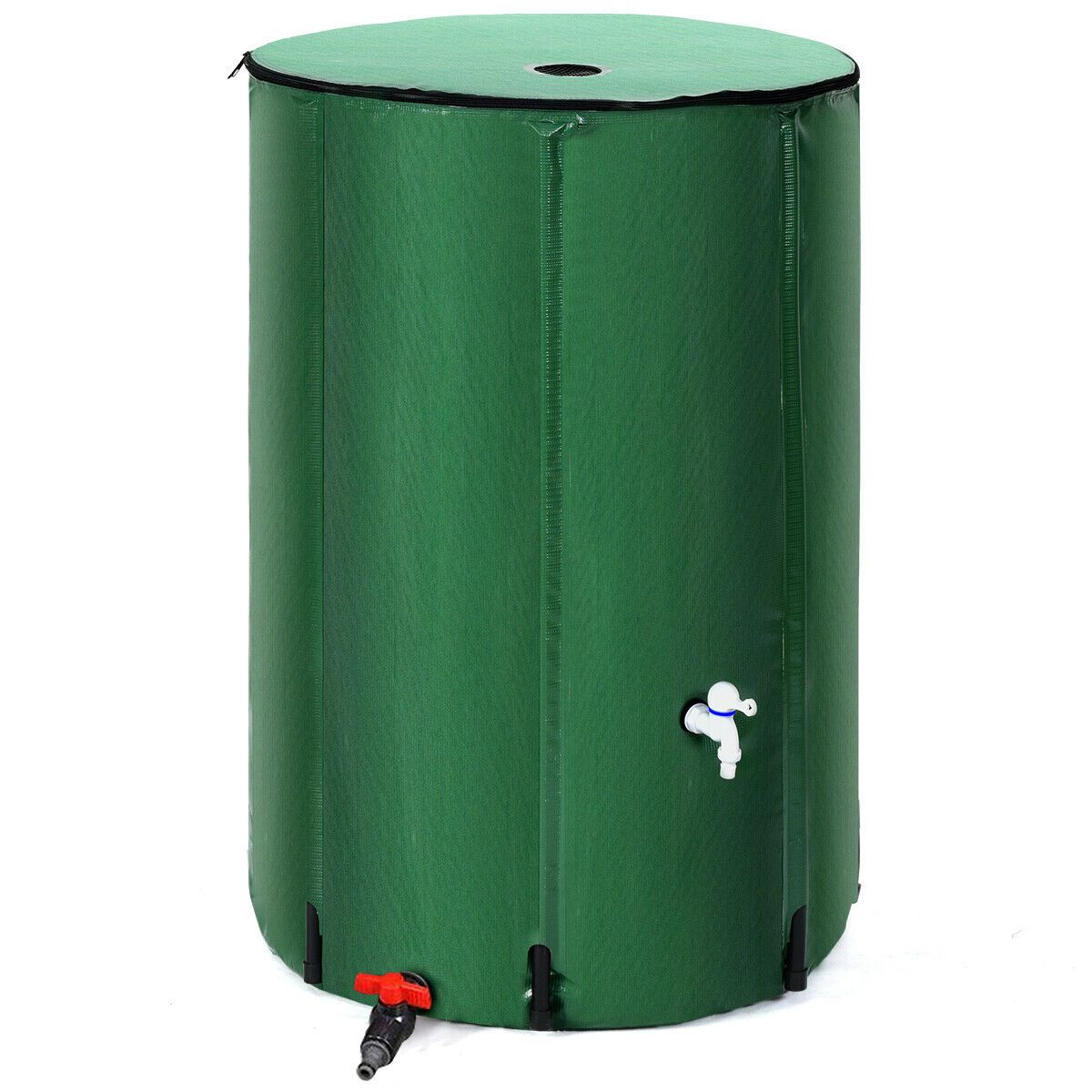 100 Gallon Portable Rain Barrel Water Collector Tank With Spigot Filter Rain Barrel Water Storage Containers Water Storage
