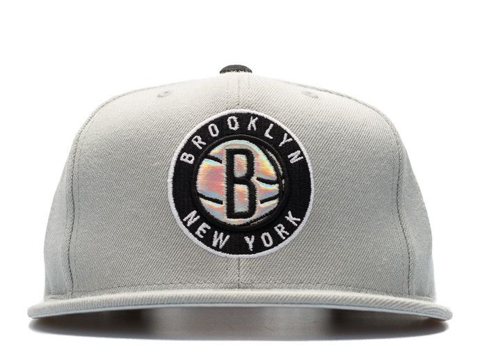 "brooklyn nets snap-back ""iridescent""  $26"